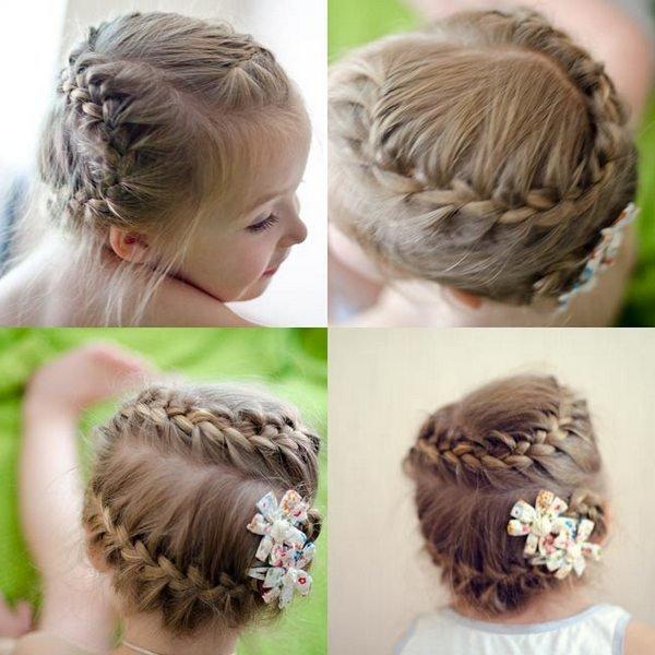 Прически плетение на средние волосы для девочек
